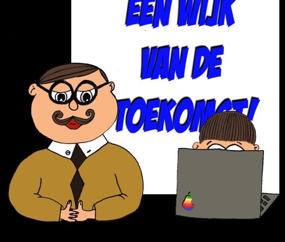 burgemeester en laptopman